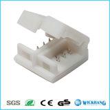Connecteur à agrafe de coupleur de Solderless 4pin RVB pour la lumière de bande imperméable à l'eau de 5050 DEL