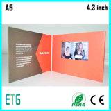 4.3inch、5インチLCDの名刺またはビデオ挨拶状