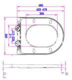 Super dünnes und flach Einwickeln-Über Art D-Form uF-Toiletten-Sitz