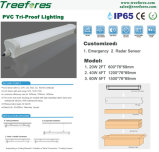 40W 1200mm LED 세 배 증거 빛 고성능 일 램프