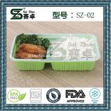 utilizzazione alimentare 2compartment e casella di pranzo della materia plastica