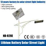 indicatore luminoso di via solare 20W-140W con il comitato solare, il regolatore e la batteria