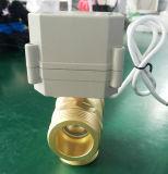 """3 modo 1 1/4 """" di tipo verticale d'ottone valvola motorizzata elettrica di G Dn32 di controllo di sfera del filetto maschio di BSPP"""