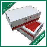 Caixa de empacotamento da impressão interna do branco da cor vermelha