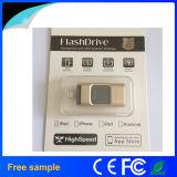Свободно изготовленный на заказ логос 3 в 1 приводе 32GB вспышки USB OTG для iPhone