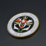 自由なアートワークデザインカスタムエナメル米国の船の挑戦硬貨