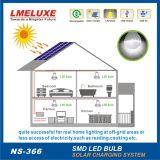 Lumière solaire de jardin de produit vert avec 4 le système de d'éclairage solaire de l'ampoule Lm-366 de PCS DEL
