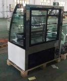 Congelador de vidro curvado grande da padaria da porta/Showcase comercial do bolo (KT740A-M2)