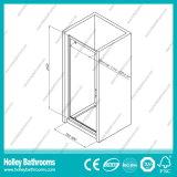 Het Scharnierende Scherm van het aluminium Douche met Aangemaakt Gelamineerd Glas (SE917C)