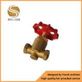 Válvula de porta de bronze personalizada do gás para o gás