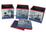 Gsa6009 DIY no tejido 3 capas del cajón del rectángulo de almacenaje decorativo con el marco del metal
