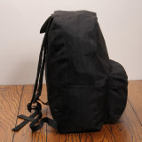 Крупноразмерный черный водоустойчивый Backpack школы холстины (B006)