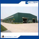 Taller industrial prefabricado de la estructura de acero/vertido/hangar