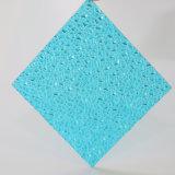 Feuille colorée de polycarbonate gravée en relief par diamant bon marché