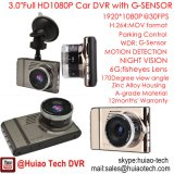 """Câmera cheia quente nova do traço da câmara de vídeo do carro de 3.0 """" HD1080p com H264. Formato dos MOVIMENTOS DVR, caixa negra mega do carro 5.0, 6g lente, 170degree ângulo DVR-3017"""
