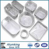 Envase de alimento oblongo del papel de aluminio