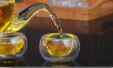 Koppen van de Thee van het Glas van de Muur van het Glas Borosilicate van de Theepot van het glas de Vastgestelde Dubbele
