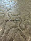 Alto cuoio di pattino sintetico impresso del PVC di effetto della perla di resistenza di abrasione/cuoio del sofà