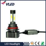 Phare du fournisseur DEL de la Chine de phare des pièces d'auto 4000lm DEL 12 mois de garantie