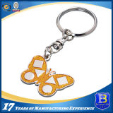 Heart-Shaped зеркало Keychain с шкентелем башни (Ele-K059)