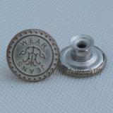 Выбитые кнопки Jean металла логоса для джинсовой ткани
