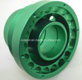 Verde fazendo à máquina da peça do CNC anodizado