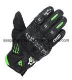 Мотоцикл волокна кожи/углерода высокого качества участвуя в гонке перчатки (MAG14)