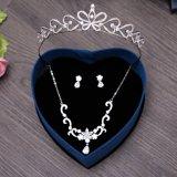 Крона волос серьги ожерелья Zircon высокого качества для венчания невесты