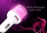 고성능 주문 우아한 로즈 모양 선전용 선물을%s 아름다운 색깔 두 배 USB 차 충전기 /Car 충전기