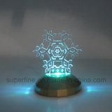 Mais Novo Plástico Romântico Personalizado Multicolor Interior Usando Party Luminary Snowflake Acrylic LED Light