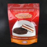 El bolso del papel de aluminio se levanta con el bloqueo del cierre relámpago para el chocolate
