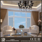 Guichet en aluminium de double interruption thermique en verre Tempered de Foshan Woodwin