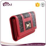 Бумажники Fani китайские красные причудливый, портмоне руки PU повелительниц
