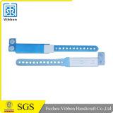 Promocional plástico disponible bloqueo pulsera de la pulsera