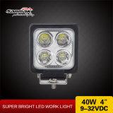 4 LEDsのクリー族40W 12V LED作業ライト4X4を防水しなさい