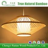 Lámpara decorativa ligera pendiente ligera de bambú de la luz de techo de Droplight