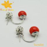 여자를 위한 돌 귀걸이를 가진 Tmer-001 빨간색 10mm 형식 전기석