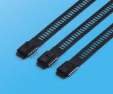 Larghezza rilasciabile rivestita 10mm della fascetta ferma-cavo dell'epossidico dell'acciaio inossidabile di riutilizzazione