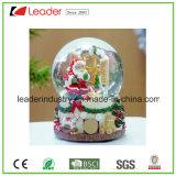 Globo da neve do Natal de Polyresin com o bujão do frasco de vinho para a decoração Home