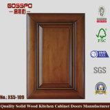 Puerta de cabina de caoba de cocina de madera sólida (GSP5-017)