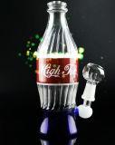 Gldg Baby-Flasche Handblown Recycler-Glaswasser-Rohr-Grün-Rosa-purpurrote Pfeife