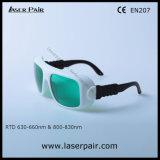 630 - 660nm Dir Lb3 y 800 - gafas de seguridad de laser de 830nm Dir Lb5 para 635nm rojo lasers de los diodos laser + 808nm con el marco 36