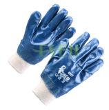 Het volledig Met een laag bedekte nitril breit Vlot Voeren van Jersey van de Pols beëindigt Handschoenen