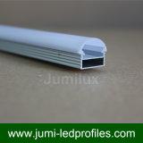Extrusiones de hueco hueco cuadrado con lente de difusor de PC Semicircle