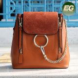 Formato Chain del sacchetto di spalla di Deisgn della borsa del cuoio genuino di 100% nuovo 2 per le signore dalla fabbrica Emg4906 dell'OEM