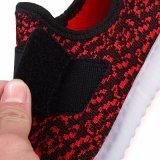 Ботинки малышей СИД горячей обязанности USB Flyknit ботинок Yeezy типа Lace-up проблескивая