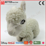 Brinquedo macio da alpaca do luxuoso do animal enchido dos carneiros