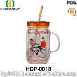 20oz Wholesale doppel-wandiges Plastikmaurer-Glas mit Stroh (HDP-0018)
