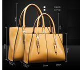 OEM van de fabriek de Klassieke Manier van het Leer van de Kleur Pu van het Contrast van de Stijl Dame Handbags