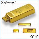 Movimentação da pena da memória do USB do projeto da barra de ouro (XH-USB-125)